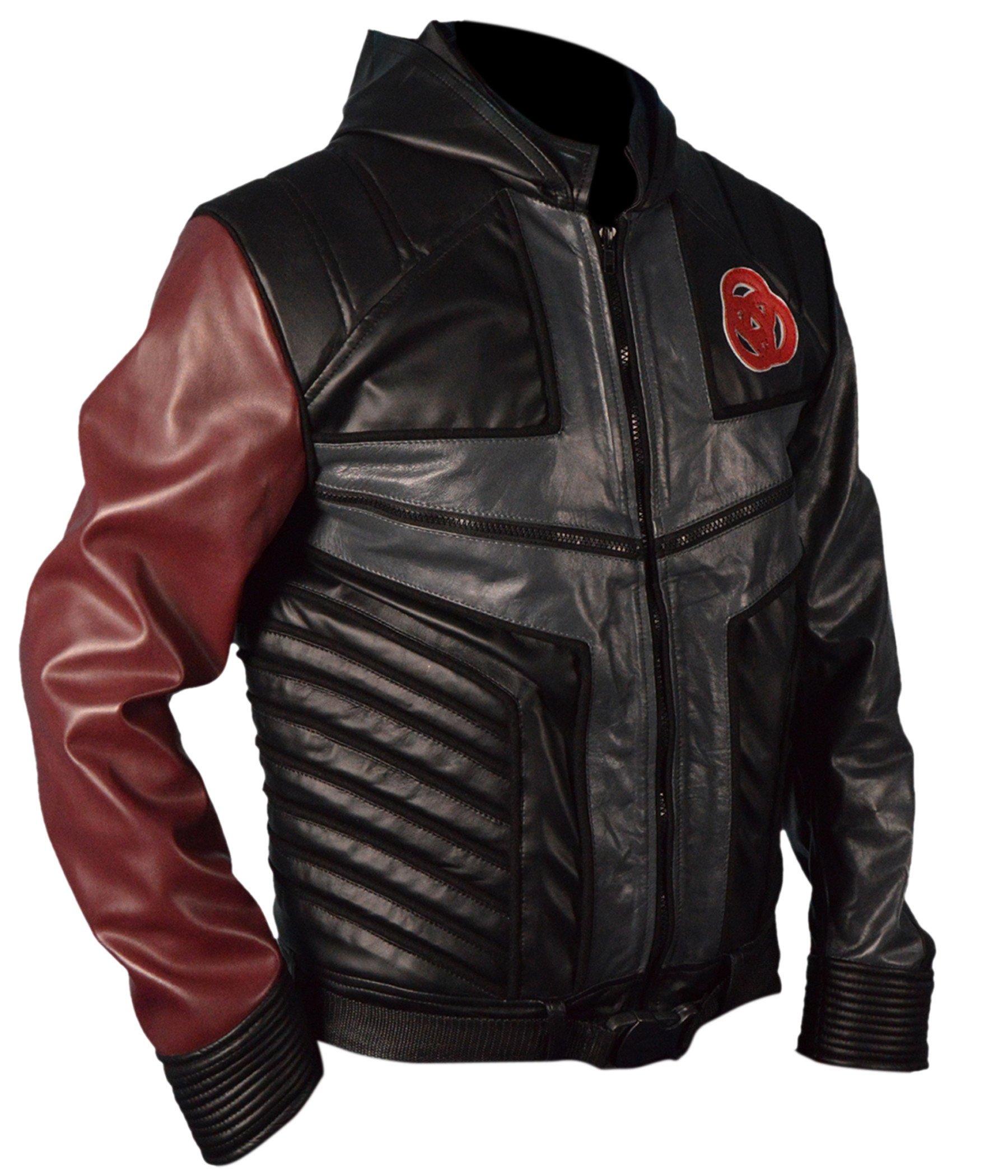 F&H Boy's Genuine Leather Lab Rats Leo Dooley Hooded Mission Jacket XXS Multi