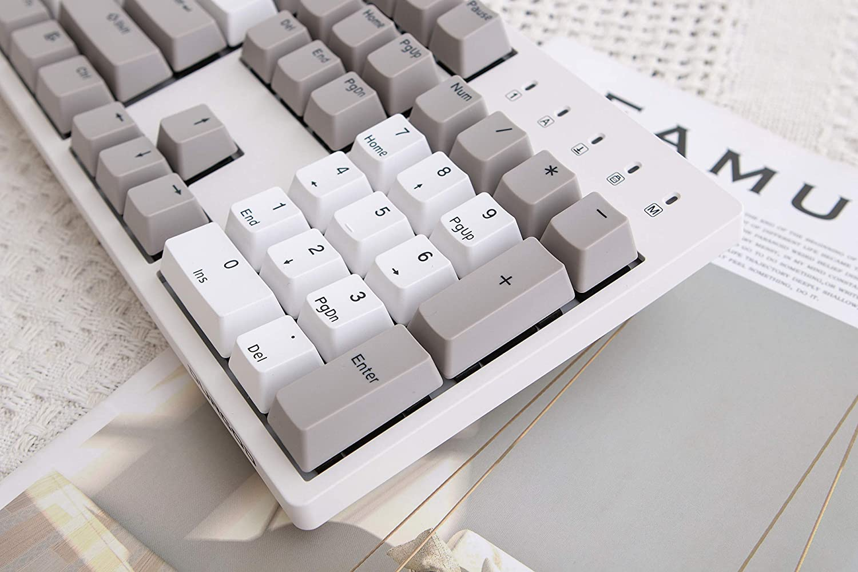 Double Shot PBT 104 Keys USB Type C Cherry Black, Grey NKRO Durgod Taurus K310 Mechanical Gaming Keyboard