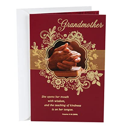 Hallmark Religious Mahogany Mothers Day Greeting Card For Grandmother Woman Of