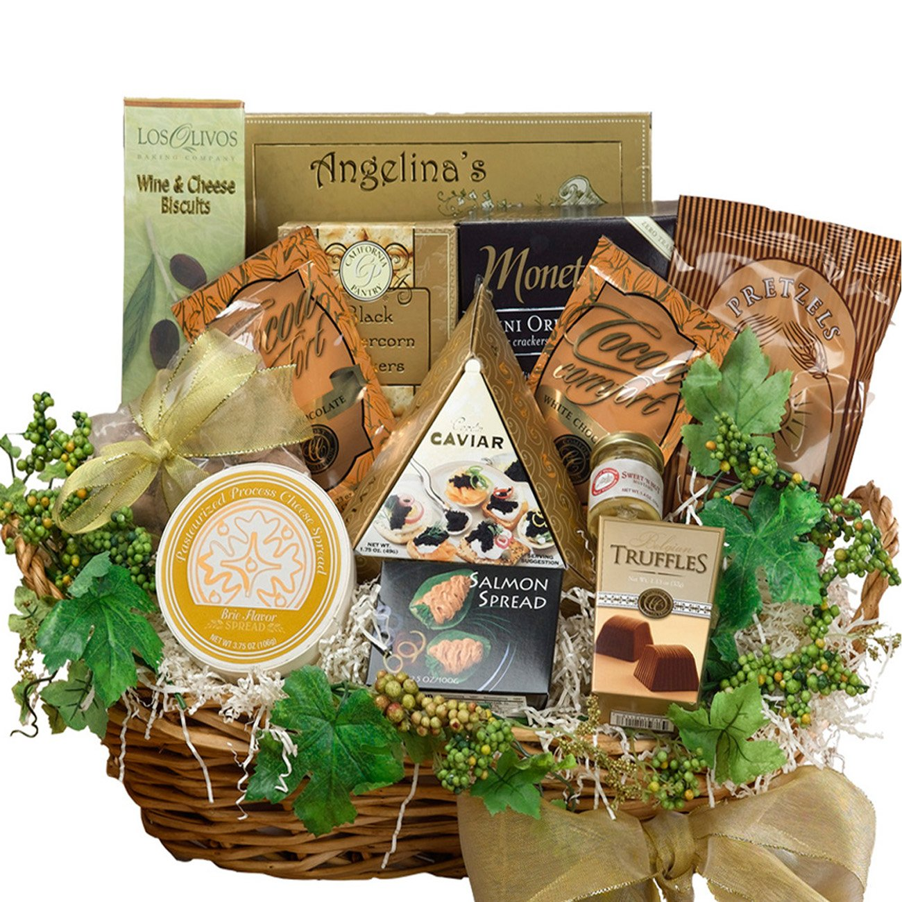 savory sophisticated gourmet food gift basket with caviar large