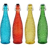 PapyrusBolsys - MIX - Crack Design Glass Bottles - 1 ltr. - Pack of 4