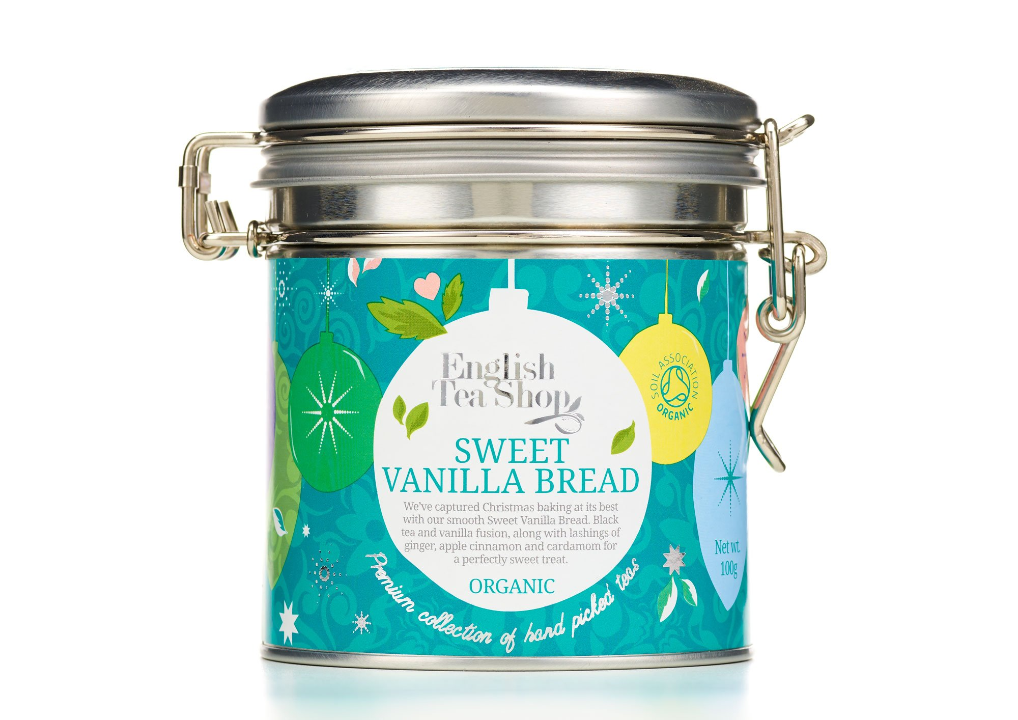 English Tea Shop Sweet Vanilla Bread Loose Tea in Clip Tin, 100 Gram by English Tea Shop