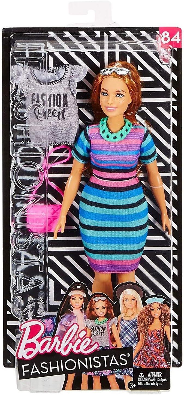 Amazon.es: Barbie Fashionista, Muñeca vestido a rayas, juguete +7 ...