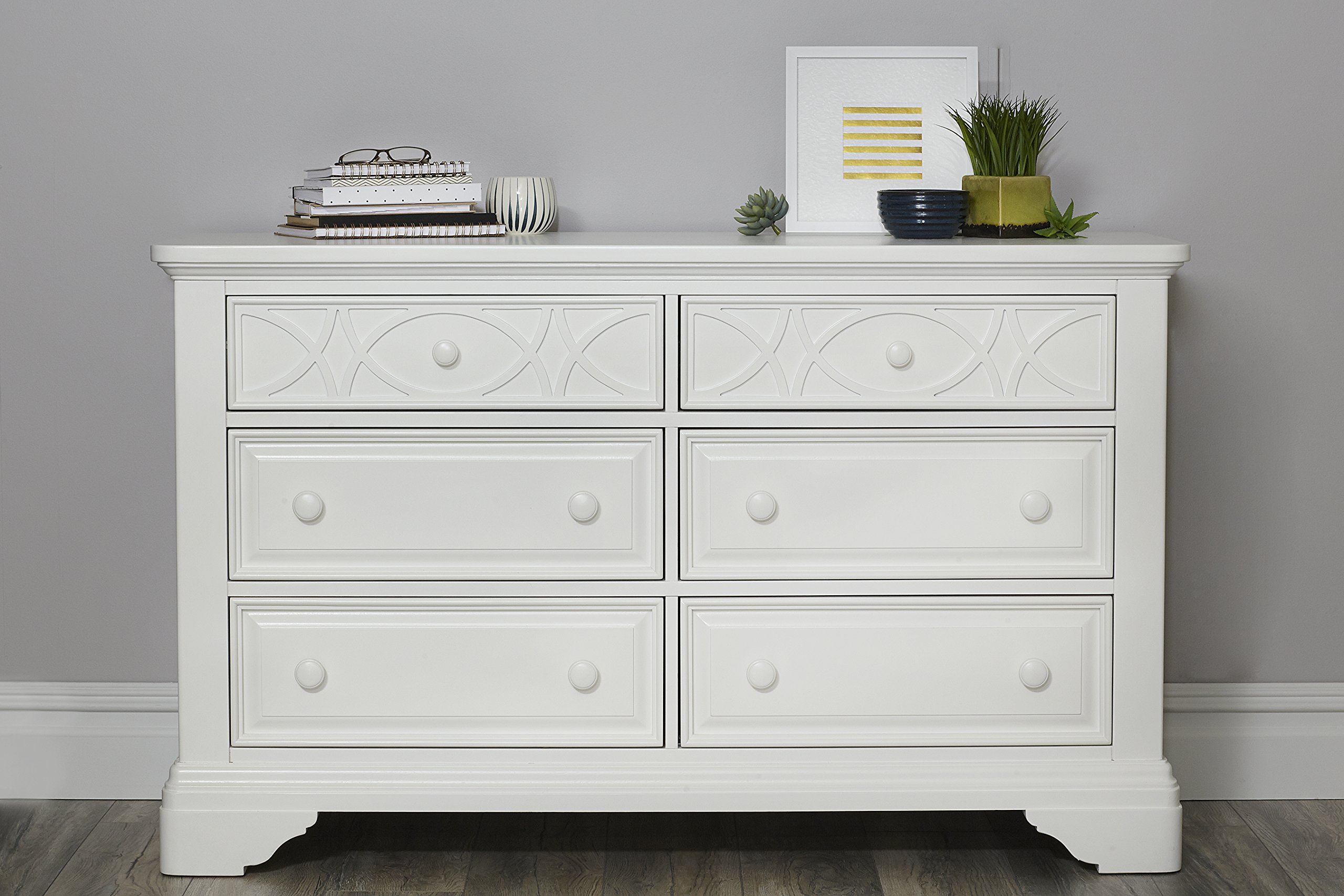 Baby Cache Haven Hill 6 Drawer Double Dresse, White Lace by Baby Cache
