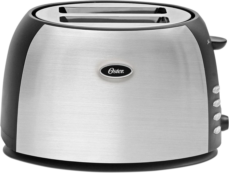 Oster 2-Slice Toaster, Brushed Stainless Steel (TSSTJC5BBK) (Renewed)