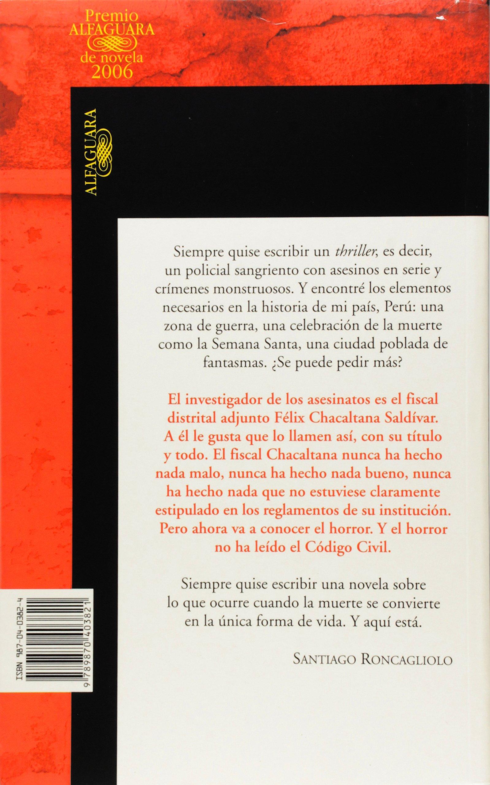 Abril Rojo (Spanish Edition): Santiago Roncagliolo: 9789870403821: Amazon.com: Books