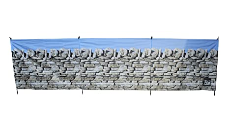 Size 4.8 X 1.4 m Olpro Lightweight   Outdoor Stone Wall Windbreak available in Stone
