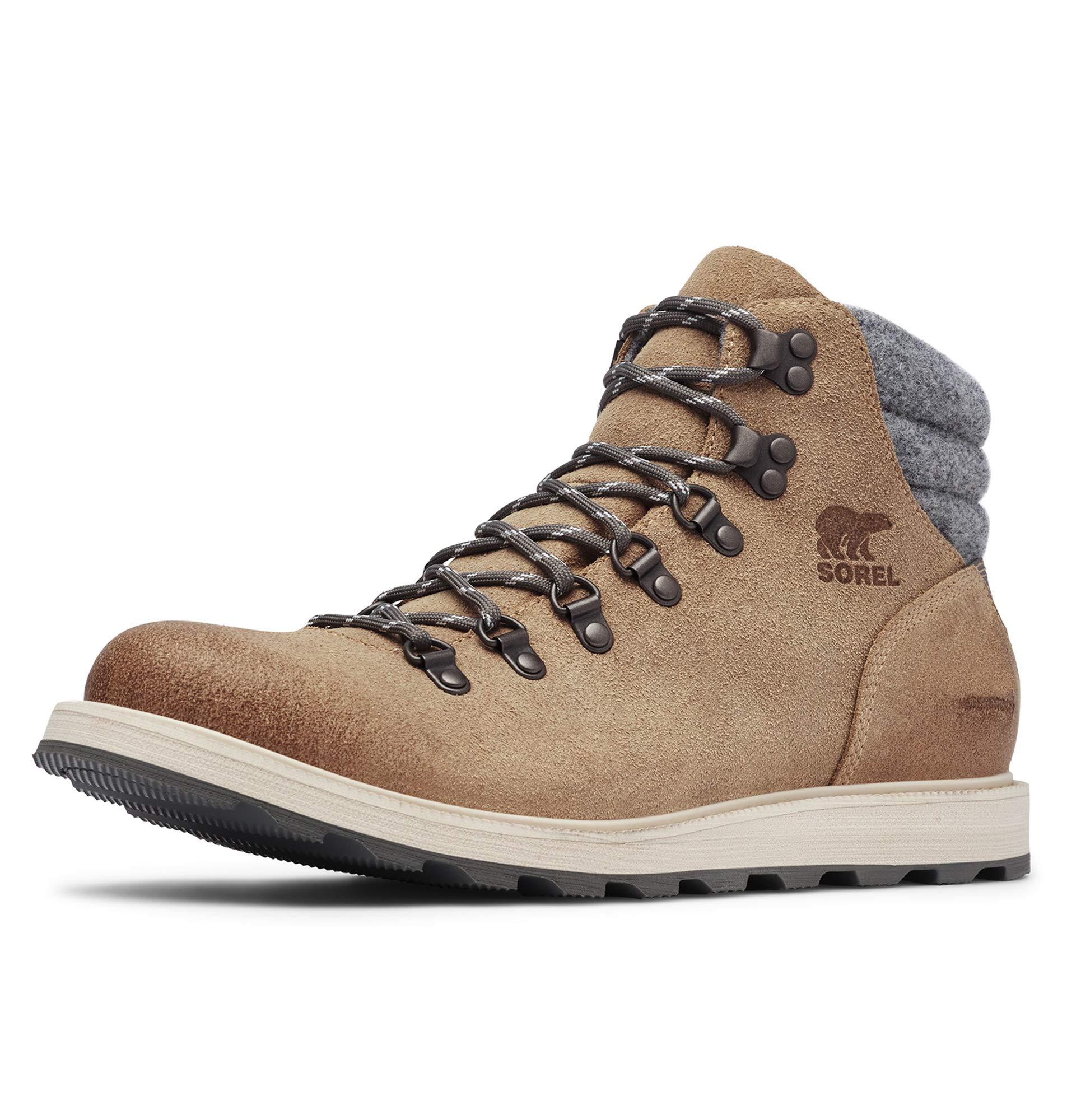 Sorel - Men's Madson Hiker Waterproof Boot, Oatmeal/Quarry, 9 M US by Sorel