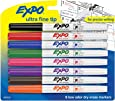 EXPO 1884309 Low-Odor Dry Erase Markers, Ultra Fine Tip, Assorted Colors, 8-Count