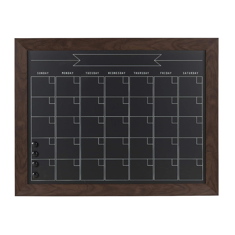 DesignOvation ビアトリス マグネティック黒板 月間カレンダー 23x29 ブラウン 23x29 ウォールナット ブラウン B072M3MXDW