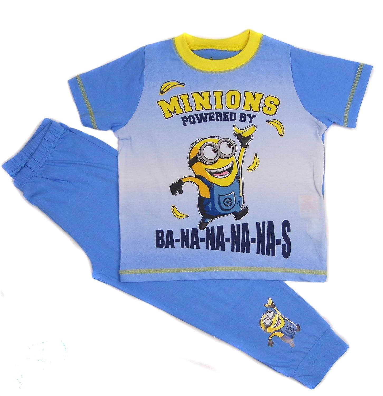 Boys Minions Pyjamas T-Shirt and Trousers Set Powered by Ba-na-na-na-na-s