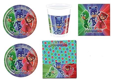 c14d713928 PJ Masks - H eacute roes en pijamas - Set decoraci oacute n para fiestas.