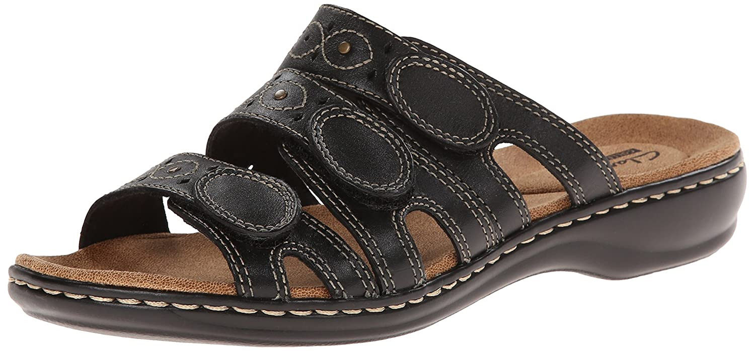 Clarks Women's Cacti Leisa Cacti Women's Q Flat Sandals B00MV9YFHW 11 M US|Black Leather 1b4dd9