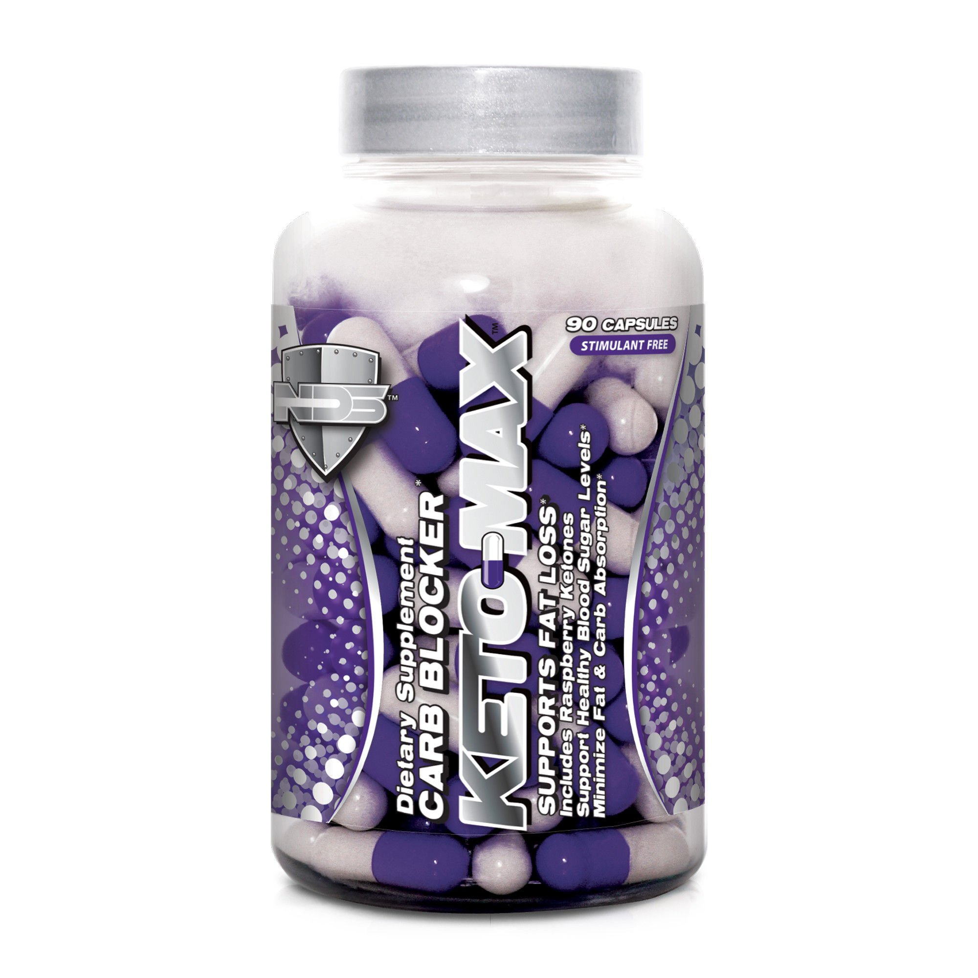 NDS Nutrition Keto-Max - Carbohydrate And Fat Blocking Dietary No Supplement With Chromium - Stimulant Fat Burner For A More Toned And Fit Body - 90 Capsules by NDS