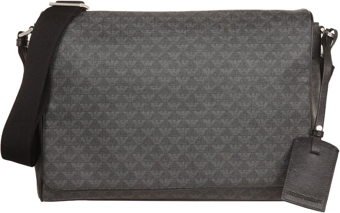 Emporio Armani Men's Messenger Bag (One Size, Lavagna/Nero)