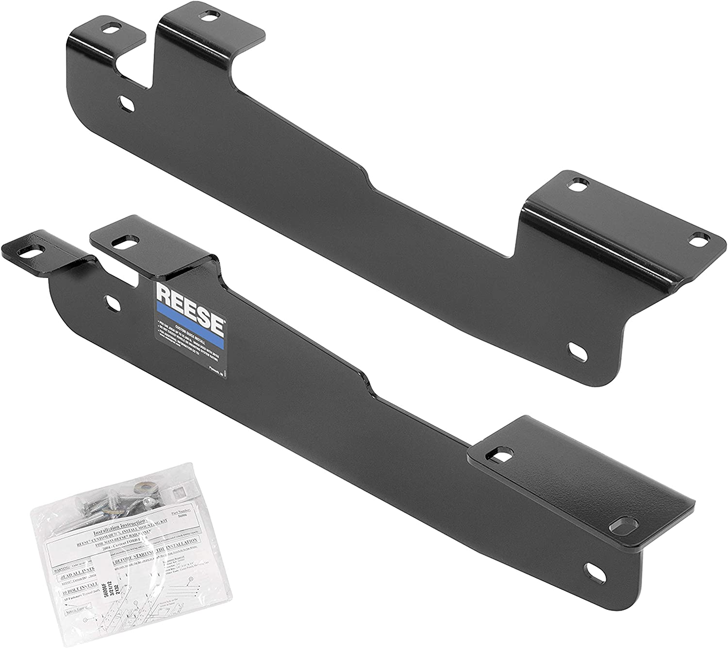 Reese 50081-58 Quick Install Fifth Wheel Mounting Brackets And Rails Fits F-150