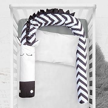 Amazon.com: Bumper Snake Zebra, almohada para cuna de 79 ...