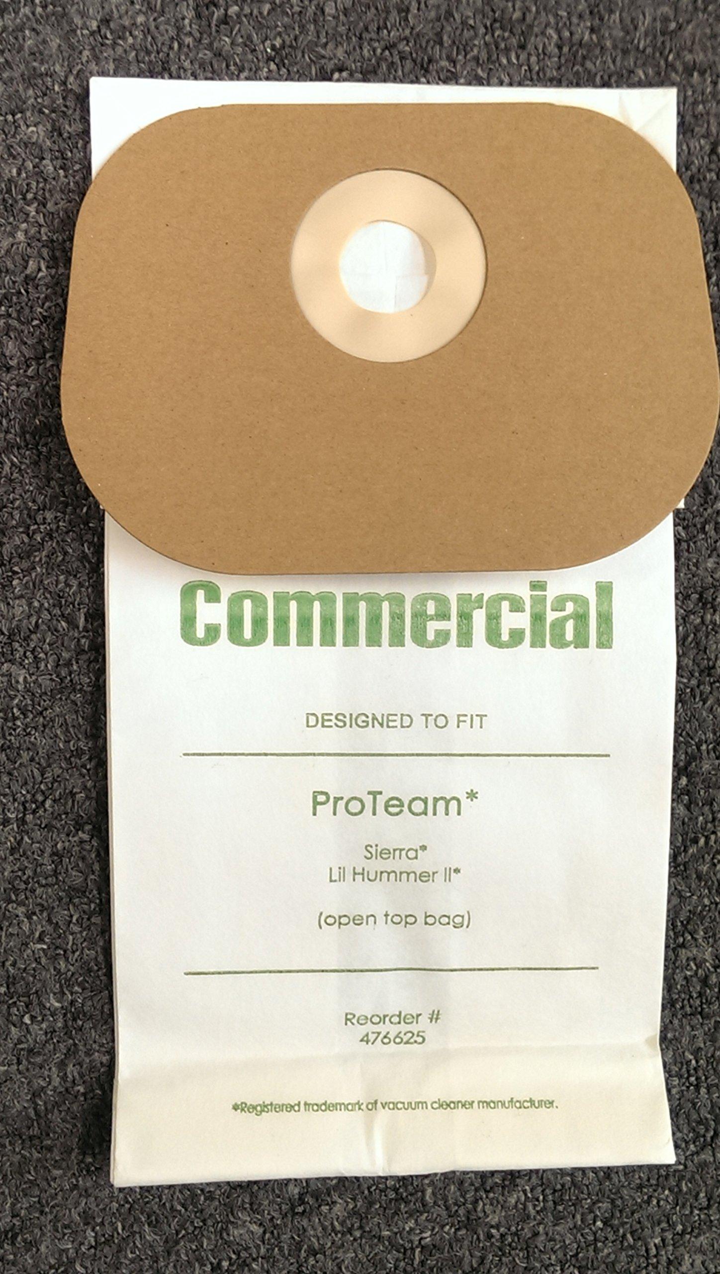 20 Commercial Vacuum Cleaner Allergy Bag ProTeam 103227, 56002 Model Sierra, Speedster 600 Backpack, Hawk Breeze, Lil' Hummer II