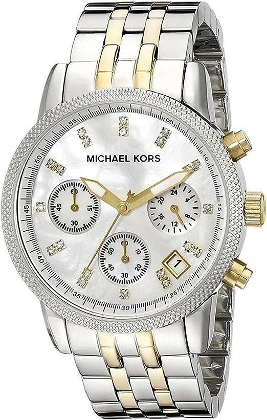 Michael Kors MK5057 Women's Two Tone Chronograph Watch