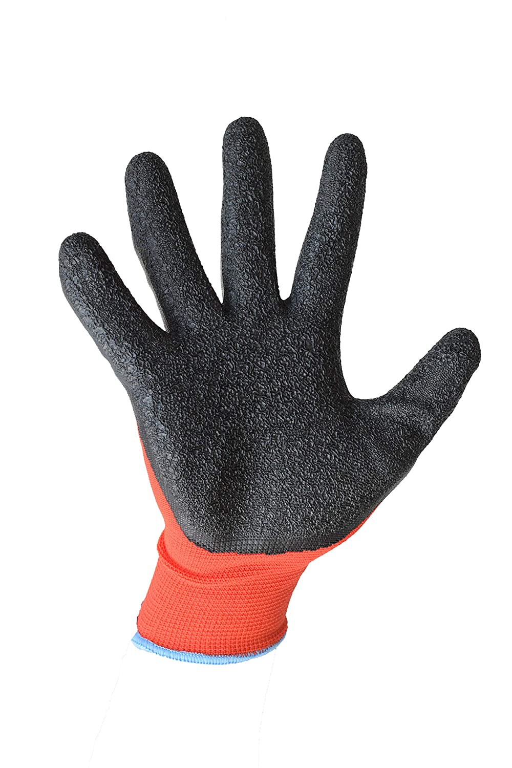 By ASPRO etc 7 size 7 Latex coated work gloves for builders 20 pairs, SMALL 20 Pairs Size S gardeners