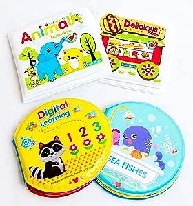Anika's Craft - Bathtub Waterproof Books - 4 pcs Set - Bath Books for Kids
