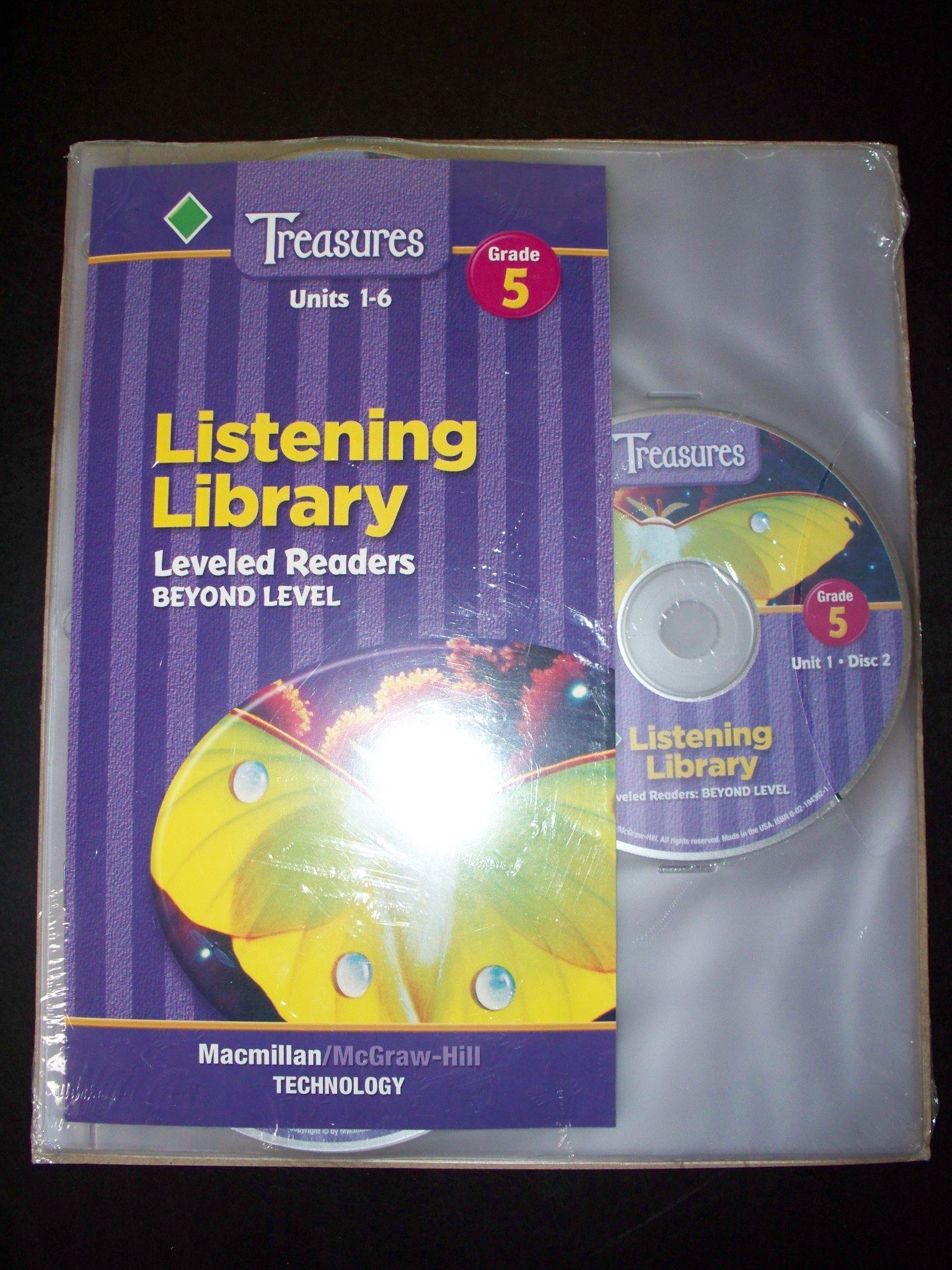 Treasures Listening Library Leveled Readers Beyond Level Audio CD's - Grade  5, Units 1-6: MacMillan McGraw-Hill: 9780021943623: Amazon.com: Books