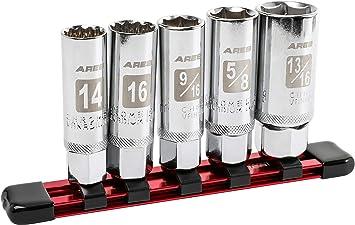 many sizes extra deep mechanic tools swivel 13-pc spark plug socket set