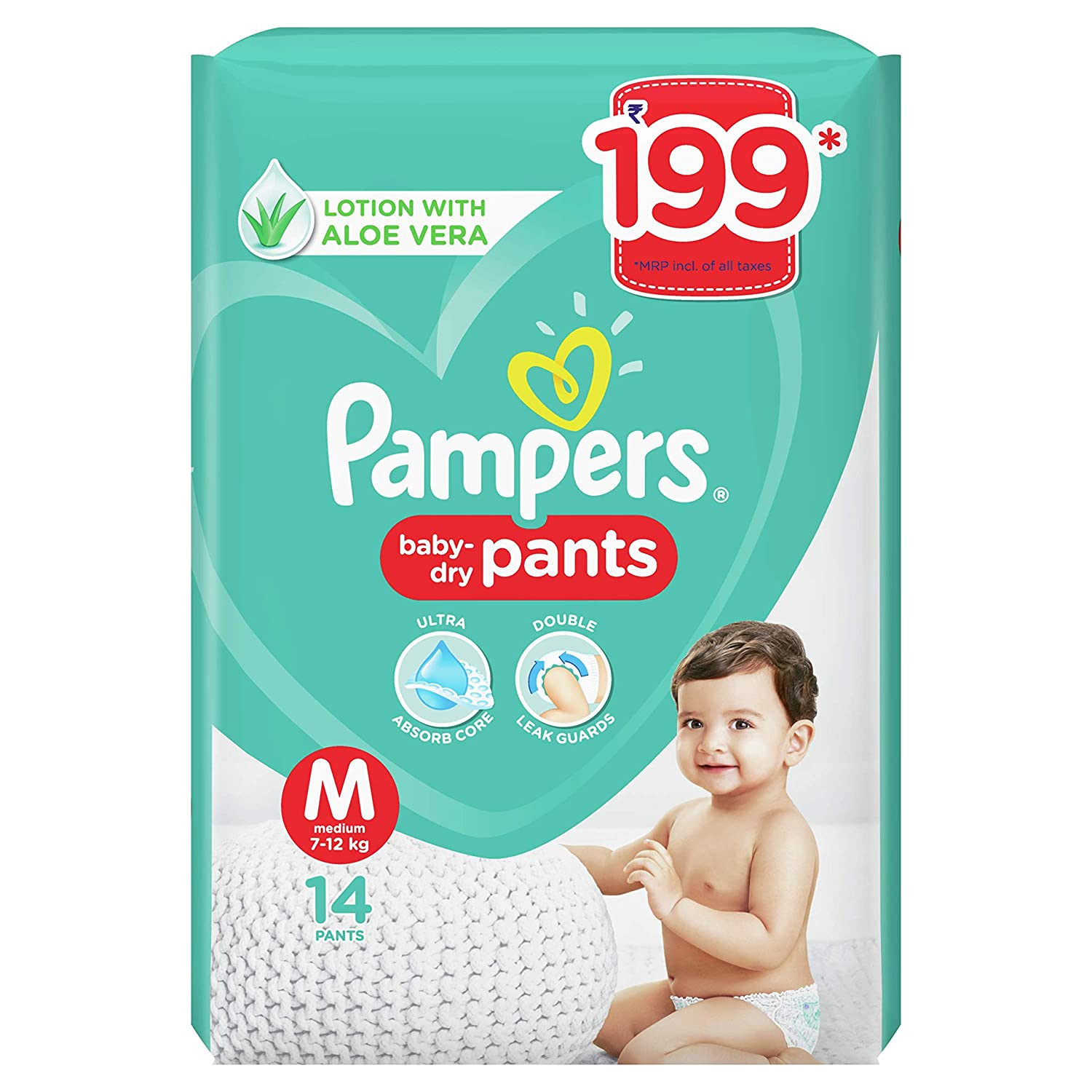 Pampers All round Protection Pants, Medium size baby diapers