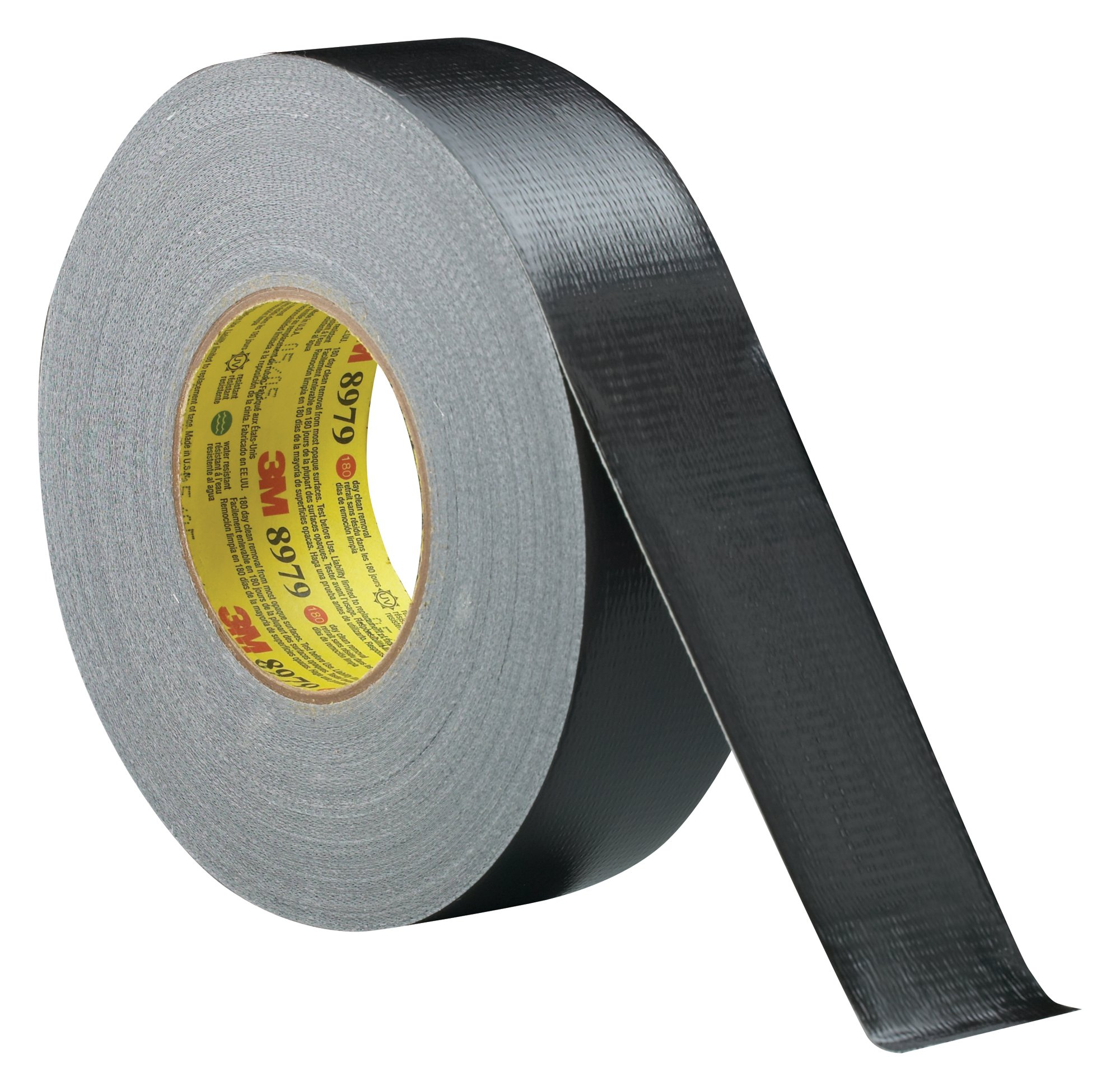 3M Performance Plus Duct Tape 8979 Black, 48 mm x 54.8 m, Conveniently Packaged (Pack of 1)