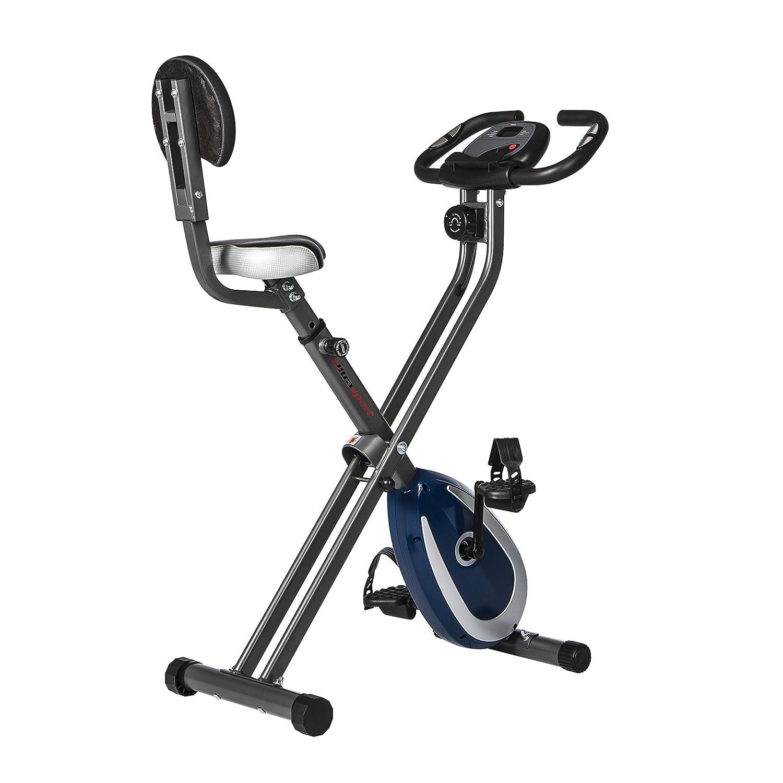 Ultrasport F-Bike 300B bicicleta estática plegable con respaldo, ordenador y App, Gris Oscuro / Azul Marino: Amazon.es: Deportes y aire libre