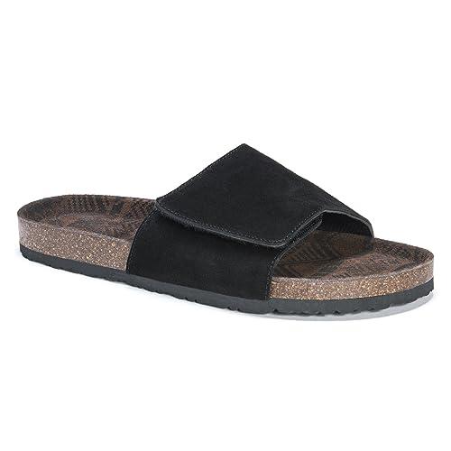 b607de54a MUK LUKS Men s Jackson Sandals-Black Slide