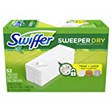 Amazon Price History for:Swiffer Sweeper Dry Sweeping Pad, Multi Surface Refills for Dusters Floor Mop, Unscented, 52 Count