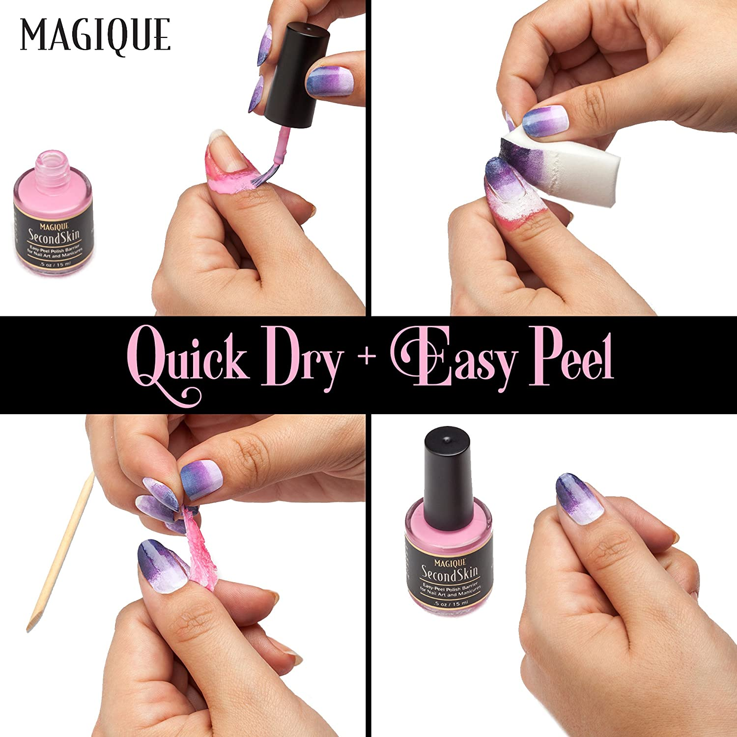 Amazon.com : Liquid Latex Barrier for Nail Art, Manicures ...