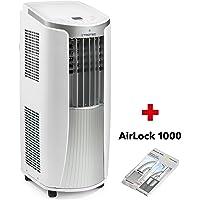 TROTEC Lokales mobiles Klimagerät Klimaanlage PAC 2610 E mit 2.6 kW / 9.000 Btu (EEK: A) 3-in-1-Klimagerät: Kühlung, Ventilation, Entfeuchtung/Inkl. Tür- und Fensterabdichtung AirLock 1000