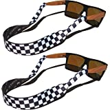 TORTUGA STRAPS FLOATZ Relaxed Fit Adjustable Glasses Strap | 2 Pk Neoprene Floating Sunglass Straps & Retainer