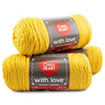Red Heart With Love 3-Pack Yarn, Cornsilk