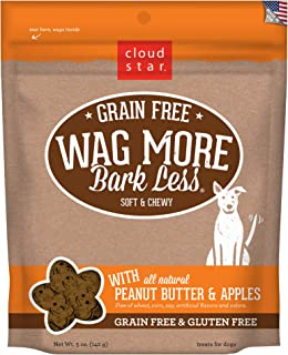 product image for Cloud Star Wag More Bark Less Grain Free Soft and Chewy Biscuit Dog Treats, Oven Baked in The USA