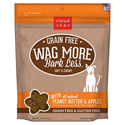 Cloud Star Wag More Bark Less Grain Free Soft and Chewy Biscuit Dog Treats