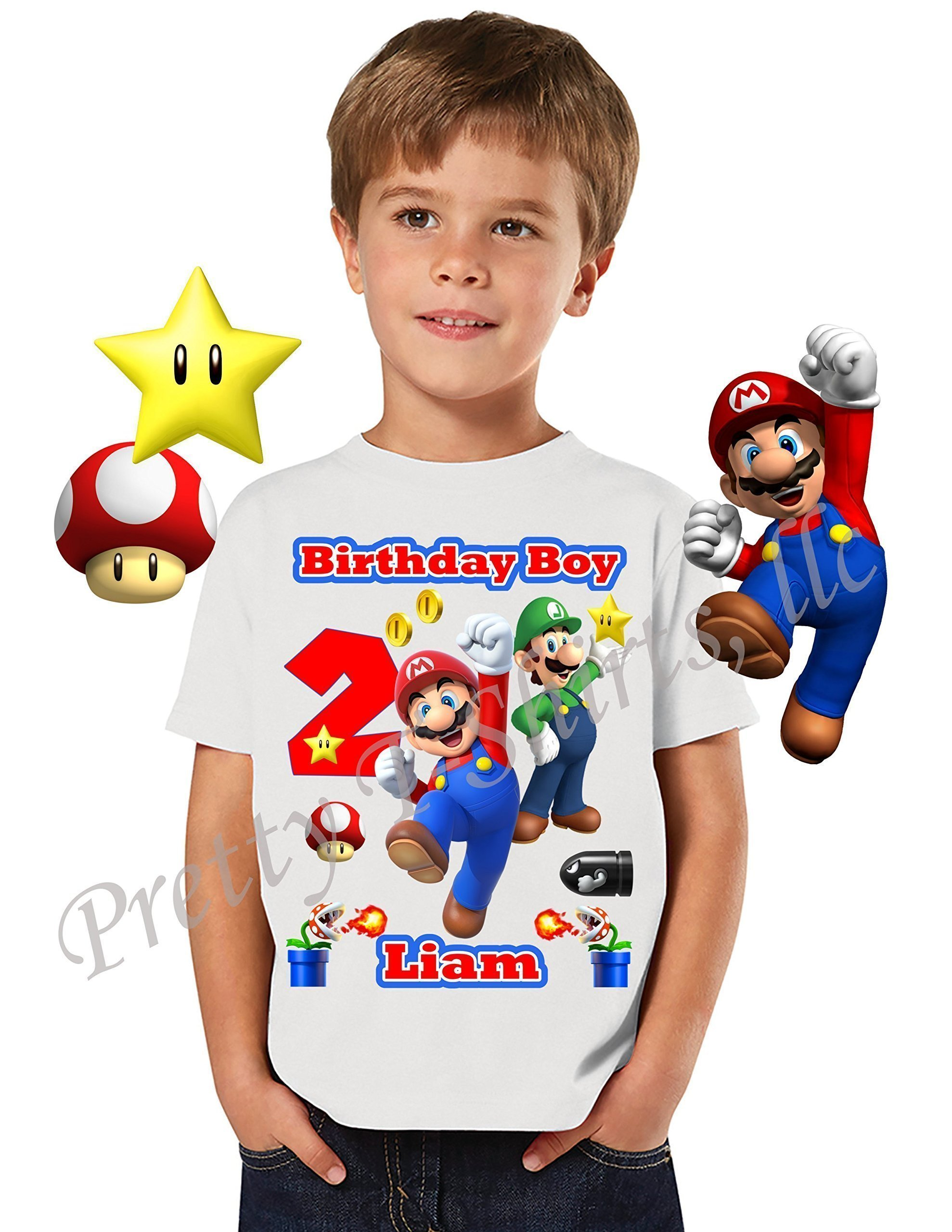 Mario Birthday Shirt, ADD any name & any age, Birthday Boy Shirt, Mario Birthday Shirt, FAMILY Matching Shirts, Super Mario Shirt, Mario & Luigi, Birthday Shirt Super Mario, VISIT OUR SHOP!!