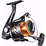 NOEBY Fishing Reels + Shallow Spool 5+1BB Spinning Reels Ultra Smooth Reel for Saltwater or Freshwater Bass