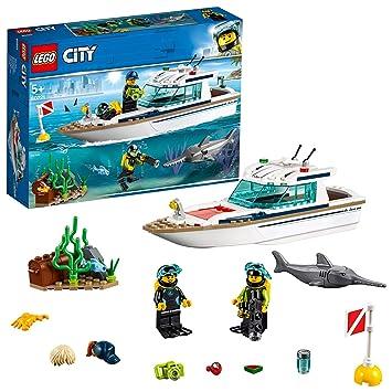 Lego Barco Con Y Yate City Animales De Submarinistas Minifiguras Vehicles Creativo Construcción Marinos60221 Great BuceoJuguete UVzMpS