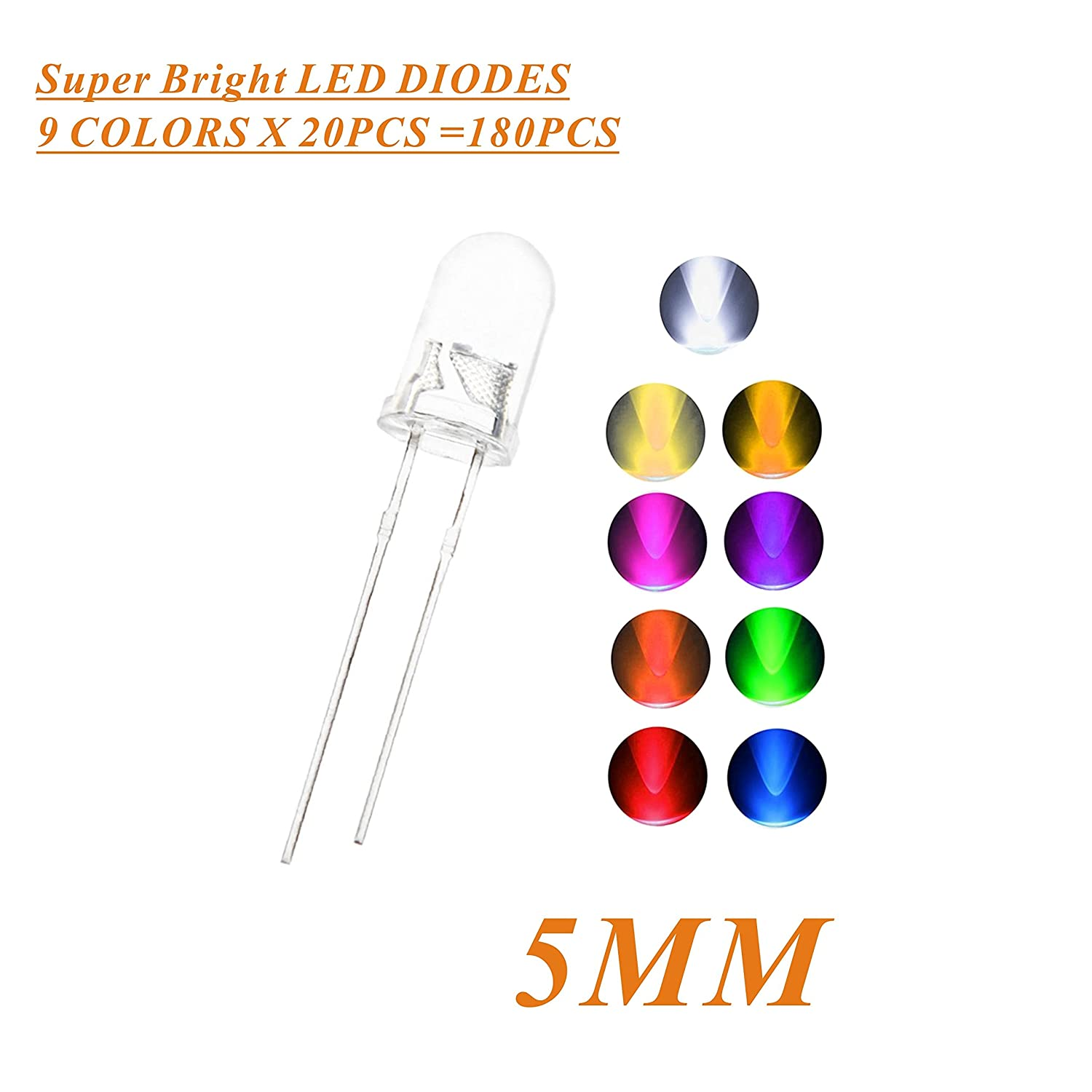 50pcs Rgb 5mm Led Emitting Diode Light Lamp Multicolor The Or Short Lead For A As Shown In Circuit Red Green Blue Tri Color With 4pin Common Anode Home Improvement