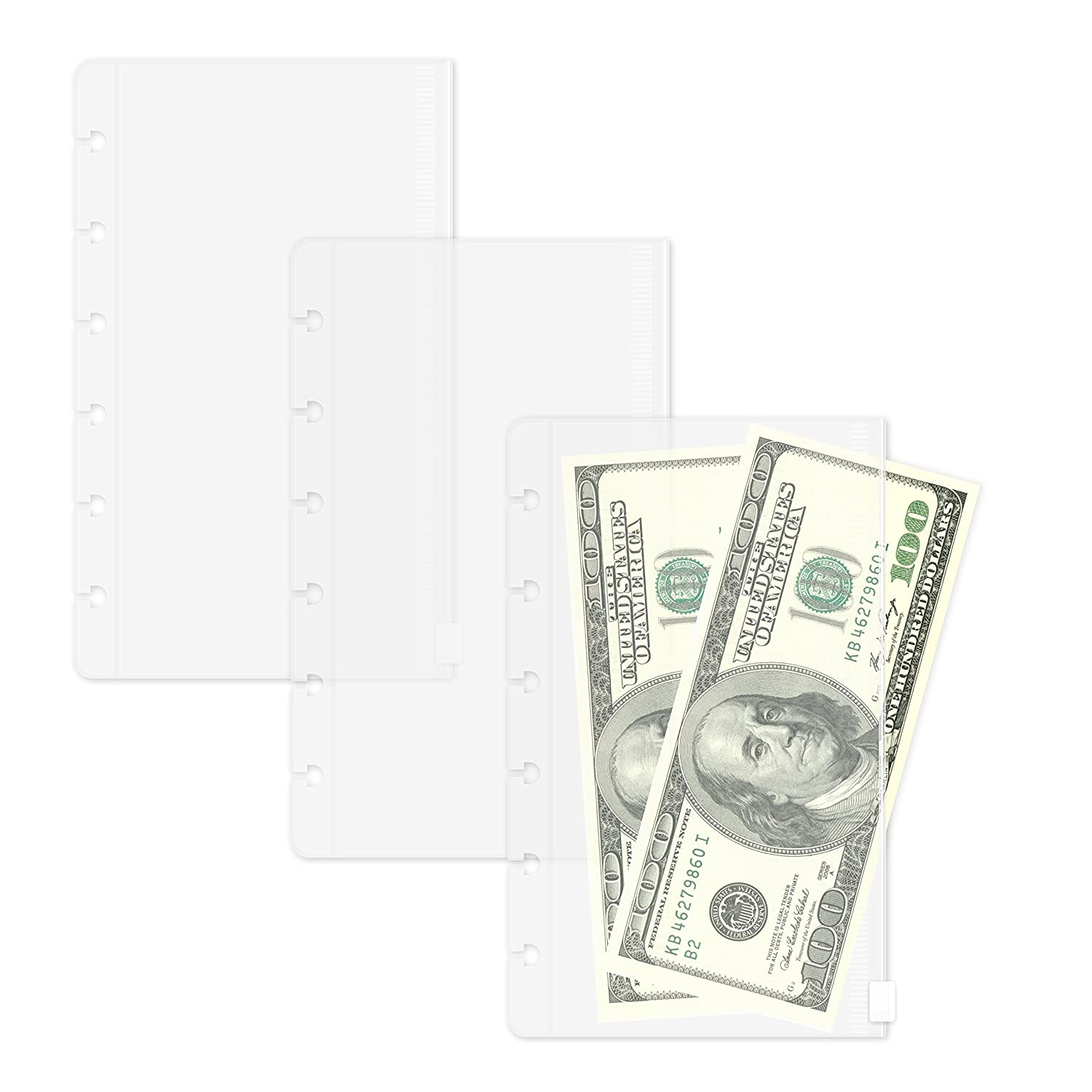Size Discagenda Clear Top-Opening Pocket Pouch A5 3 Pack for Discbound Planner Personal Organizer 5.8x8.3in