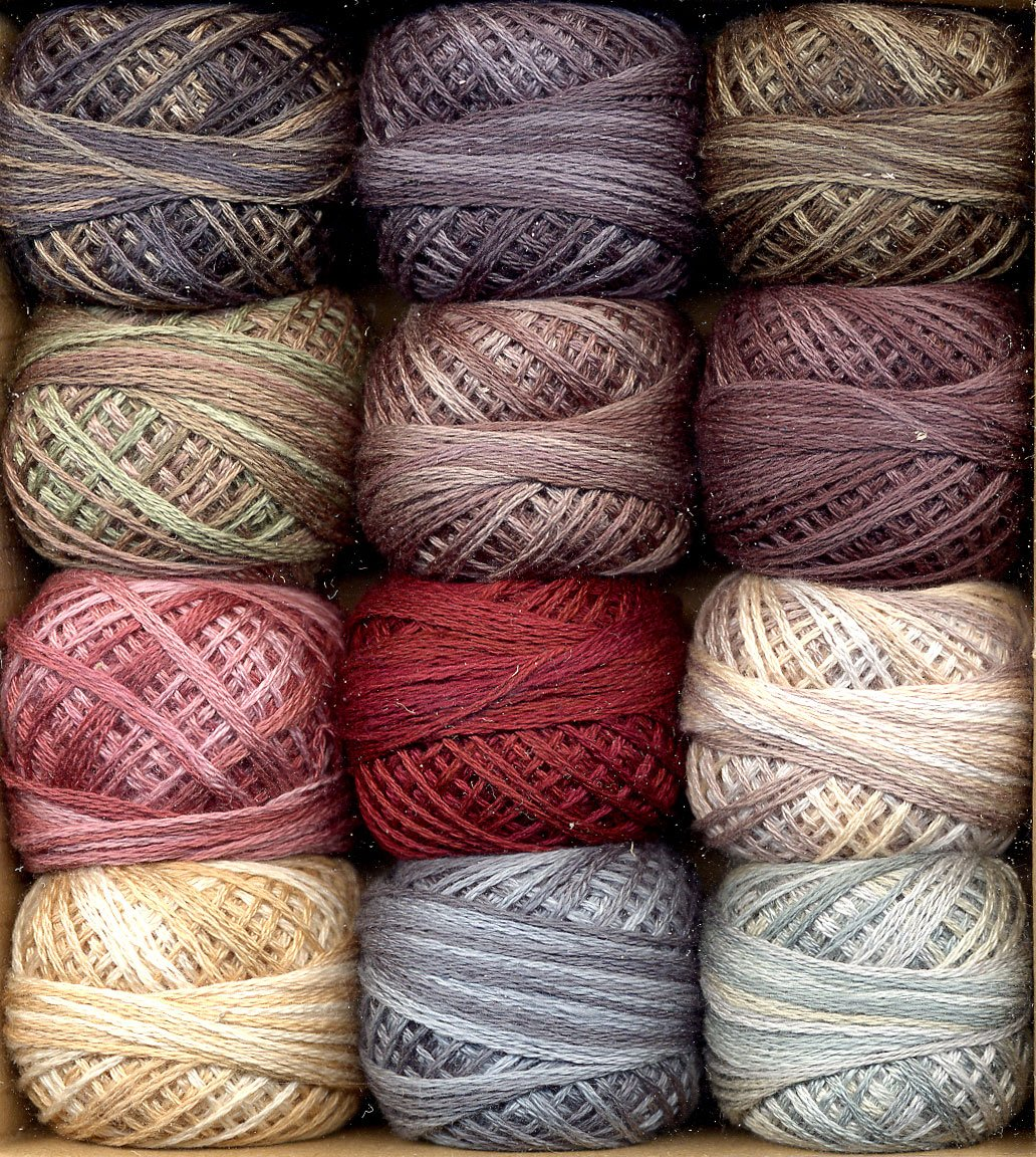 3SF-ArtistP Valdani 3-Strand Cotton Embroidery Floss 12-Ball Artists Palette Collection
