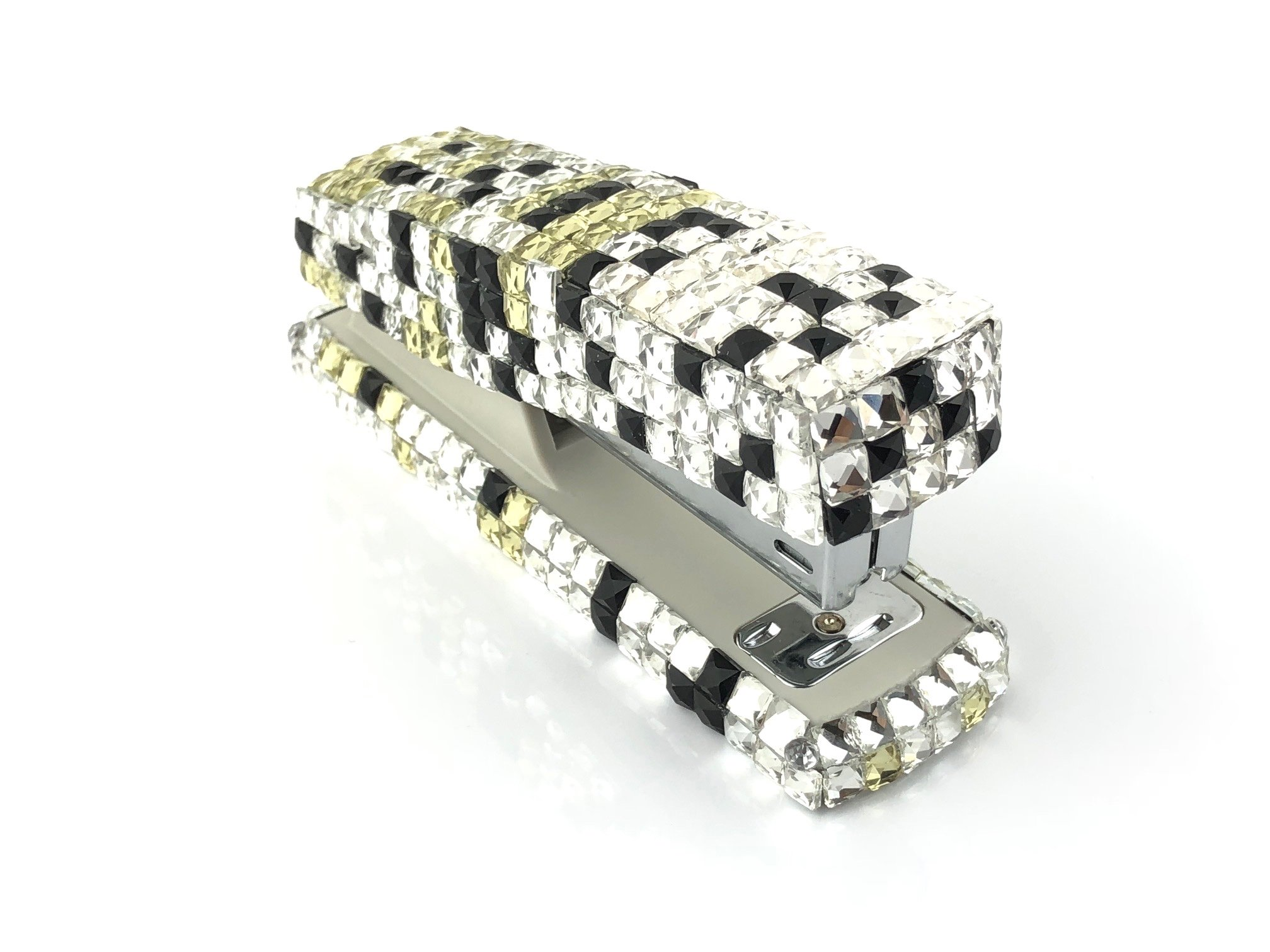 Blingustyle Bling Bling Iridescent Sparkly Square Swarovski Elements Crystal Stapler for Office/Home Gift