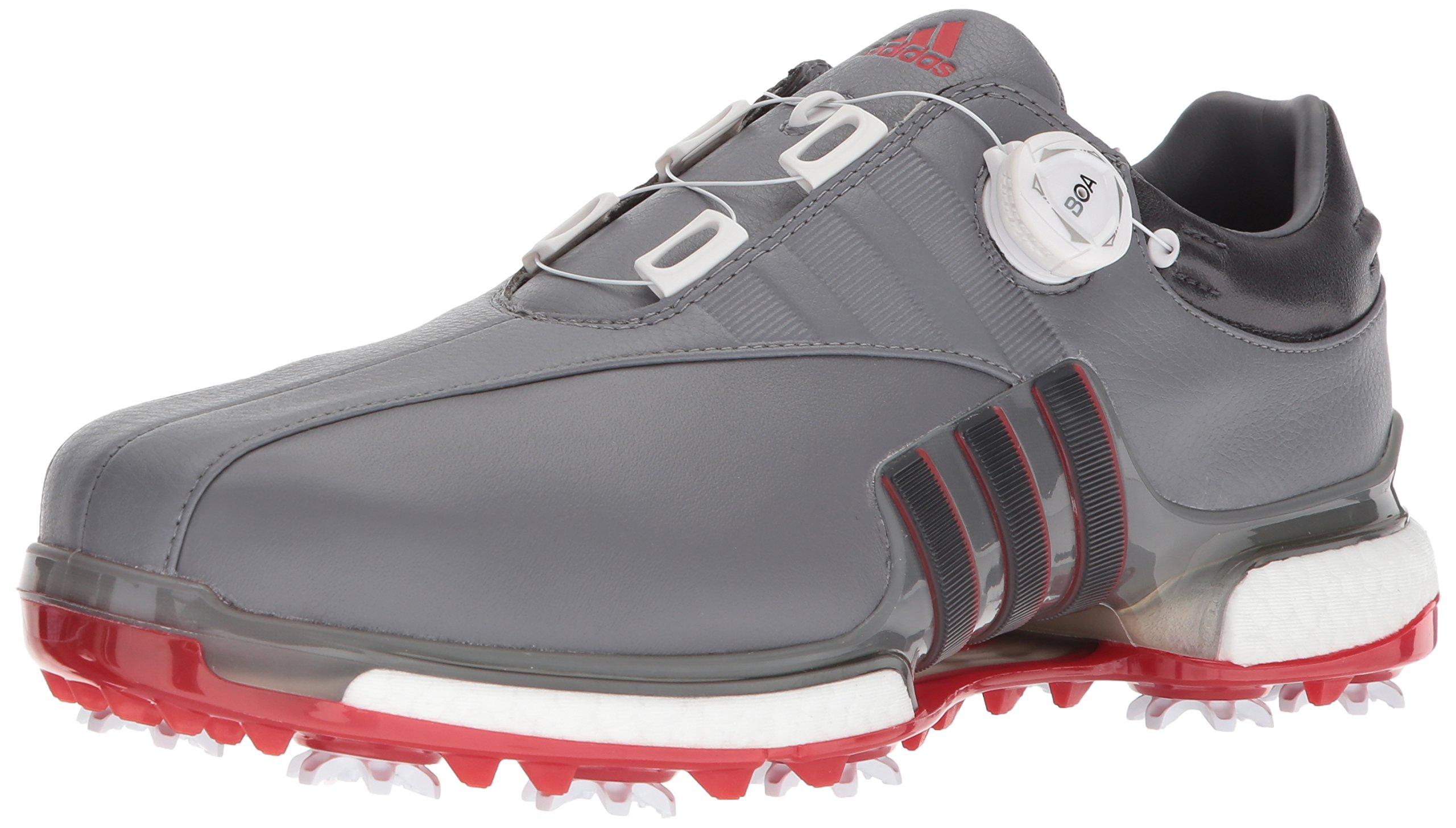 sale retailer d4ea0 6601c adidas Men's TOUR360 EQT Boa Golf Shoe, Grey Four/Utility Black/Scarlet,  11.5 Medium US
