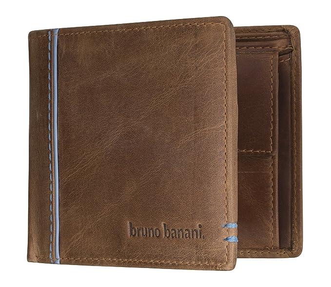 bruno banani - Cartera para hombre de piel Hombre marrón marrón: Amazon.es: Ropa y accesorios