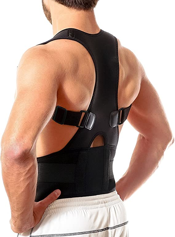 Amazon.com: Back Brace Posture Corrector XL   Best Fully Adjustable Support Brace   Improves Posture and Provides Lumbar Support   For Lower and Upper Back Pain   Men and Women (Extra Large): Sports & Outdoors