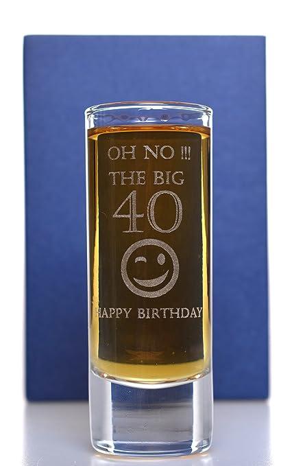 Bicchiere Da Liquore Lungo Con Frase In Lingua Inglese Incisa Per