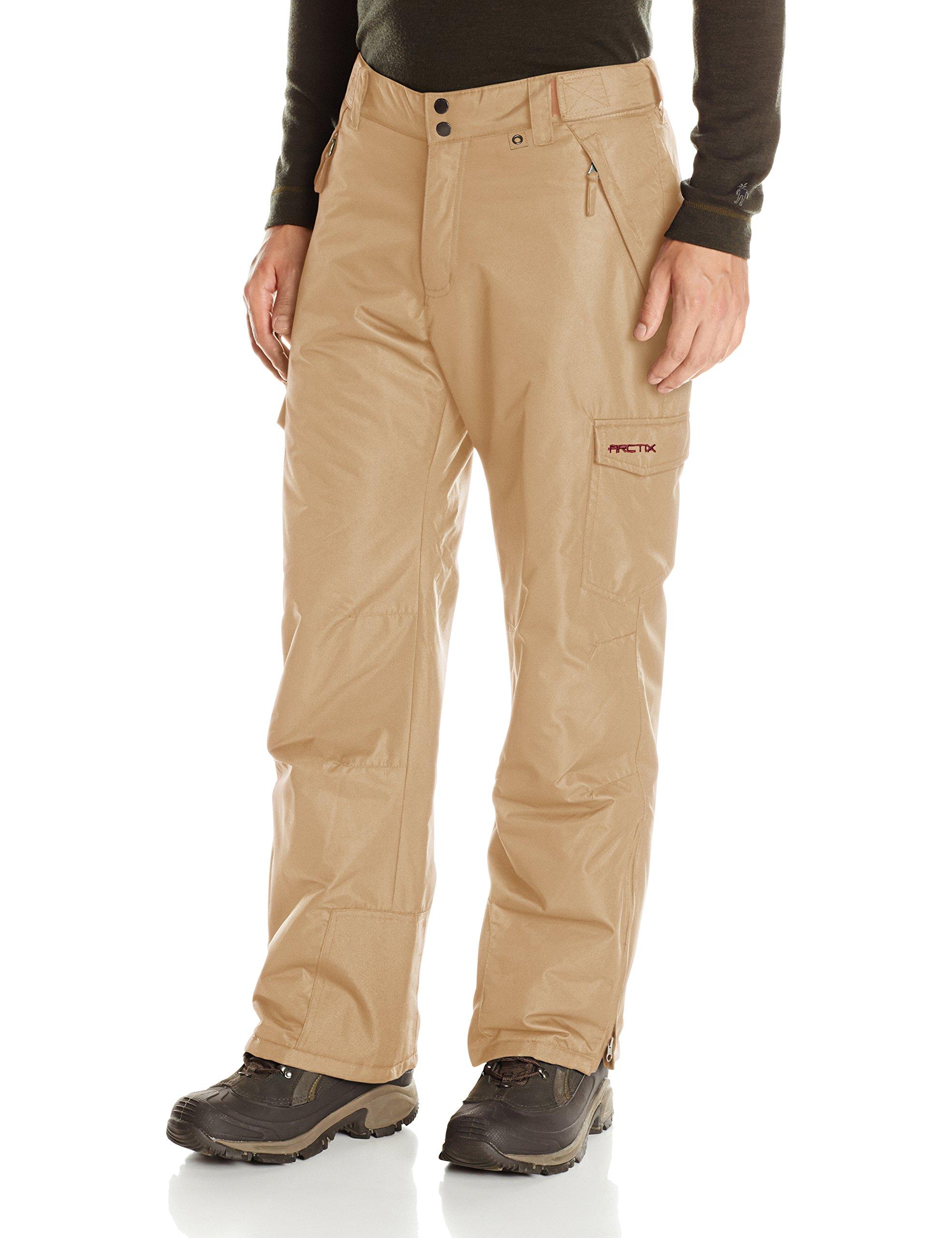 Arctix Men's Snow Sports Cargo Pants, Khaki, Medium/Regular by Arctix